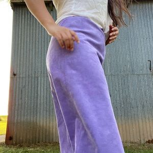 Purple Suede Vintage Skirt
